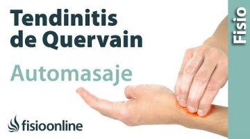 Auto-masaje para la tendinitis de Quervain o del pulgar.