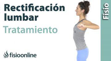 Rectificacion lumbar. Tratamiento con ejercicios y estiramientos