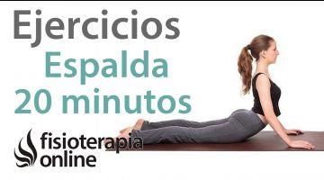 Ejercicios de espalda en 20 minutos