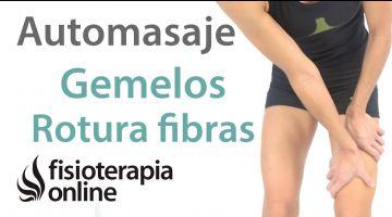 2.Auto-masaje para las roturas de fibras o musculares de gemelo.