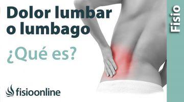 30# Lumbalgia o lumbago. Qué es, causas, síntomas y tratamiento.