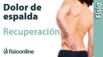 Ejercicio de fortalecimiento para los músculos lumbares para mejorar los dolores de espalda
