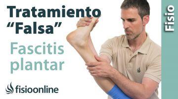 """Tratamiento de la """"falsa"""" Fascitis plantar o dolor en la planta del pie."""