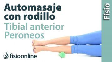 Auto masaje de peronéos y tibial anterior con rodillo