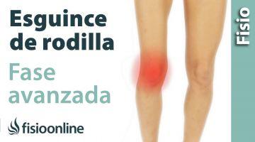 Esguince de ligamento lateral Interno de rodilla. Tratamiento en su fase final o avanzada.