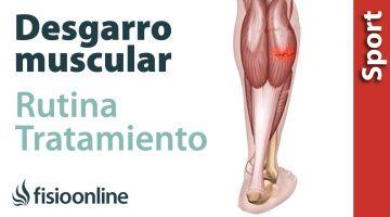 Rutina para  tratamiento de distensiones, desgarros musculares y roturas de fibras