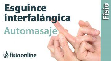 Esguince de interfalángica de los dedos. Auto-Masaje para su tratamiento.