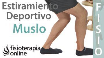 Estiramientos deportivos para relajar la zona posterior del muslo