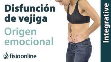 Origen emocional de la disfunción de vejiga.
