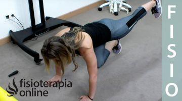 Espalda sana - Ejercicio tonificación básicos en cuadrupedia