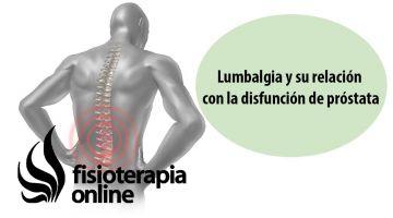 Lumbalgia o lumbago derecho y su relación con la disfunción de próstata