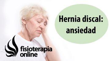 Hernia discal cervical izquierda y su relación con la ansiedad y el estrés