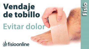 Vendaje de tobillo para evitar dolor al patear o chutar un balón