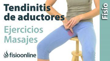 Tendinitis de aductores. Tratamiento con ejercicios, auto-masajes y estiramientos