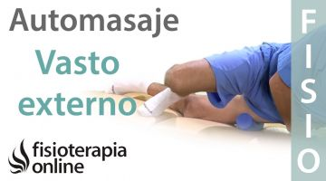 Auto masaje de vasto externo y recto anterior con rodillo