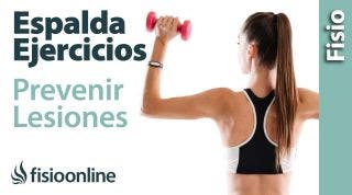 Tabla de espalda o rutina de ejercicios para una espalda sana.