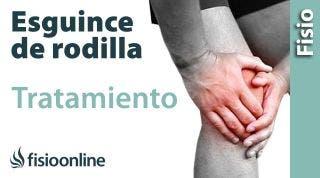 Tratamiento de un esguince de rodilla