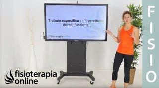 Trabajo específico en hipercifosis dorsal funcional