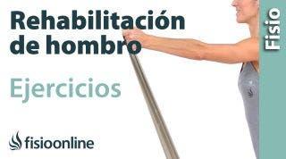 Rehabilitación de hombro ejercicios de estabilización