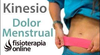 Aplicación del kinesiotaping para el dolor menstrual.