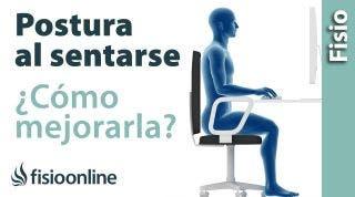 Como mejorar la postura sentado, que hacer para que no duela la espalda en el ordenador