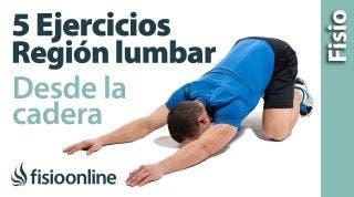 5 EJERCICIOS para MEJORAR tus LUMBARES desde las caderas