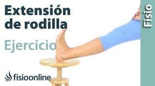 29 Ejercicio para aumentar la extensión de rodilla después de cirugía o inmovilización.