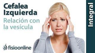Cefaleas o dolores de cabeza izquierdos y su relación con la vesícula (ansiedad).