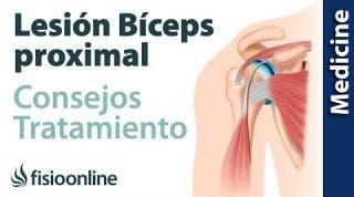 Consejos para el tratamiento de las lesiones del tendón del bíceps proximal
