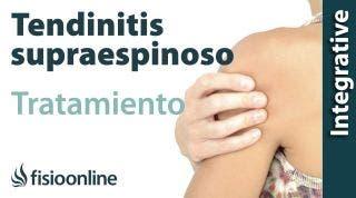 Tratamiento de la tendinitis de hombro o supraespinoso derecha