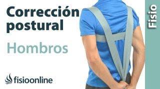 Ejercicio de corrección postural con cincha para hombros adelantados y espalda encorvada