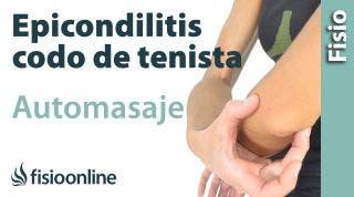 Auto-masaje para la epicondilitis o codo de tenista.