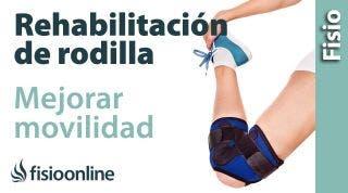 Ejercicio de movilidad de la rehabilitación de rodilla