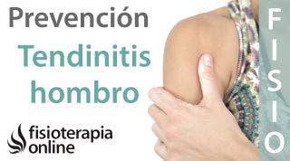 Prevención de la tendinitis de hombro, supraespinoso o del manguito rotador