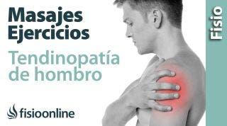 Tendinitis y dolor de hombro. Tratamiento con ejercicios, auto- masajes y estiramientos