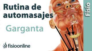 8.Auto-masaje de la garganta y zona anterior del cuello.