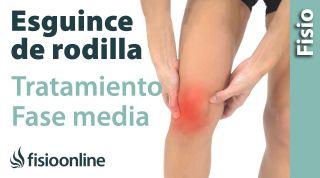 Esguince de ligamento lateral Interno de rodilla. Tratamiento en su fase intermedia