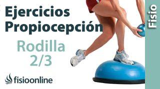 Ejercicios de propiocepción o propioceptivos de rodilla. Nivel intermedio. Reforzar la rodilla