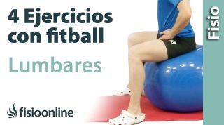 4 ejercicios con pelota de Fitball o pilates para trabajar las lumbares.