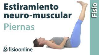 Estiramiento neuro-muscular global de las piernas.