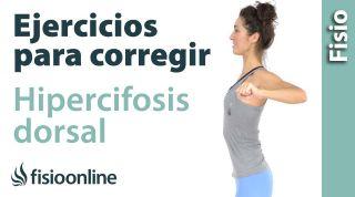 Ejercicio para abrir el torax y corregir o rectificar la cifosis dorsal
