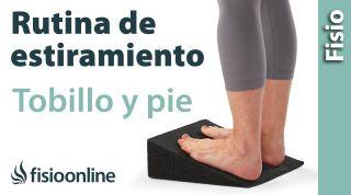 Estiramiento de la musculatura anterior del pie y tobillo