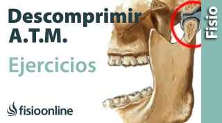 Ejercicio para descomprimir la articulación temporomandibular. A.T.M