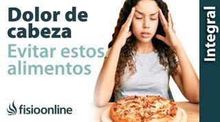 Cefalea tensional o dolores de cabeza. Alimentación y nutrición.