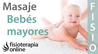 Cómo dar un masaje en bebés mayores