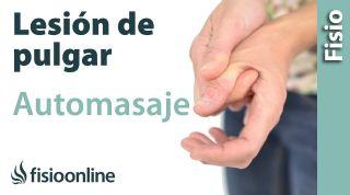 Auto-masaje para las lesiones del pulgar - Eminencia tenar.