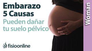 5 causas que podrán dañar tu suelo pélvico en el embarazo. Por qué es tan vulnerable en el embarazo.