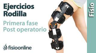 Primeras fases de la rehabilitación de la rodilla