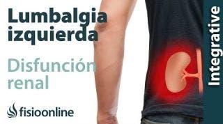 Lumbalgia o lumbago izquierdo y su relación con la disfunción de riñones
