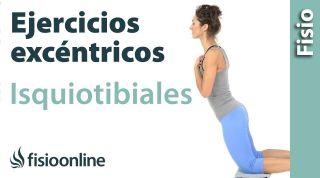 Ejercicio de potenciación o fortalecimiento excéntrico para los músculos isquiotibiales.